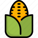 cooking, corn, food, fresh, fruit, vegetable icon