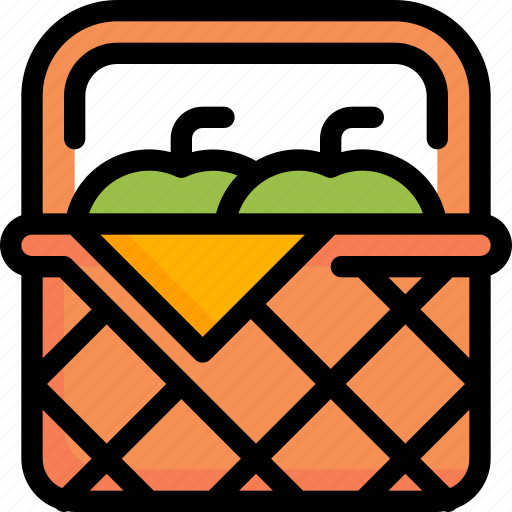 apple, autumn, basket, buy, cart, fruit, season icon
