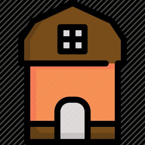 autumn, building, farm, garden, gardening, house, season icon
