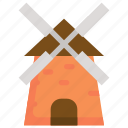 autumn, building, farm, home, house, season icon