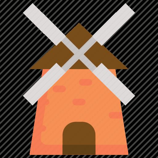 autumn, building, farm, home, house, season icon
