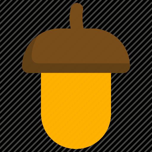 acorn, autumn, corn, nature, season icon