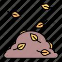autumn, fall, leaves, pile