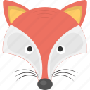 animal, fox, wild animal, wolf, wolf face icon