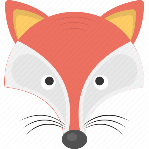animal, fox, wild animal, wolf, wolf face icon