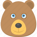 brown teddy, cartoon teddy bear, teddy bear, teddy face, toy teddy icon