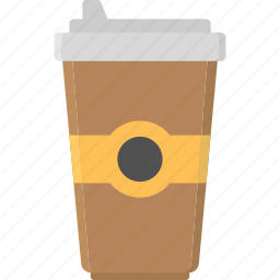 caffeine, cappuccino, coffee, coffee cup, disposable coffee cup icon