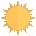 planet, sun, sun rays, sunbeam, sunshine icon