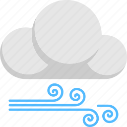 forecast, spiraling lines wind, weather, wind and cloud, windy weather icon