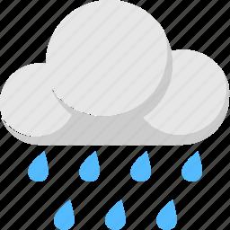 climate, cloud, rain, raindrops, raining icon