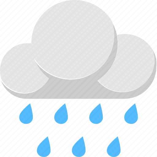 climate, cloud, rain, raindrops, raining icon