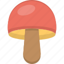 cartoon mushroom, fungi, mushroom, toadstool, vegetable icon