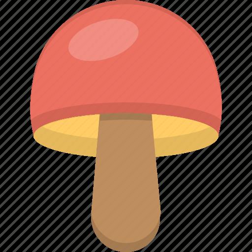 cartoon mushroom, fungi, mushroom, toadstool, vegetable icon