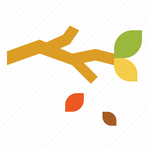 autumn, branch, leaf, leaves, trees icon