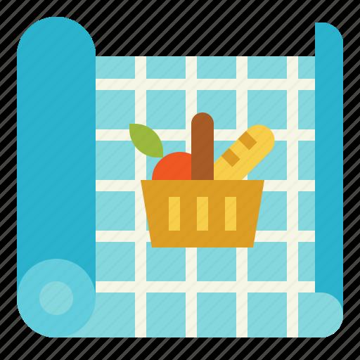camping, food, mat, picnic, tablecloth icon