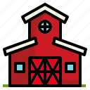 barn, farm, gardening, growth, nature icon