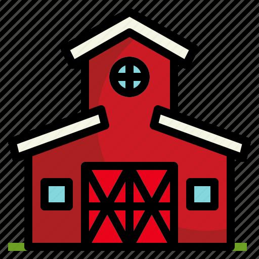 barn, farm, gardening, growth, nature icon