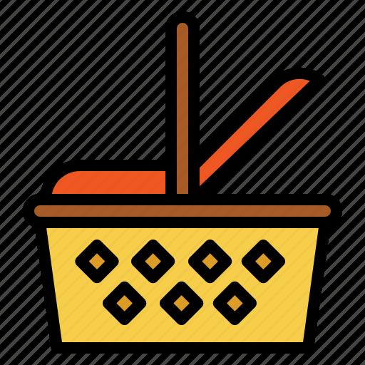basket, camping, food, market, picnic icon
