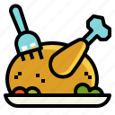 chicken, food, leg, roast, turkey icon
