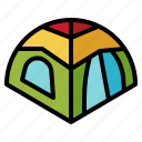 adventure, camping, holidays, picnic, tent icon