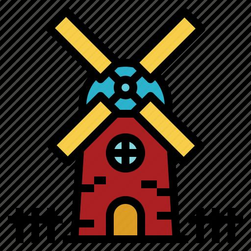 ecology, farm, mill, netherlands, windmill icon