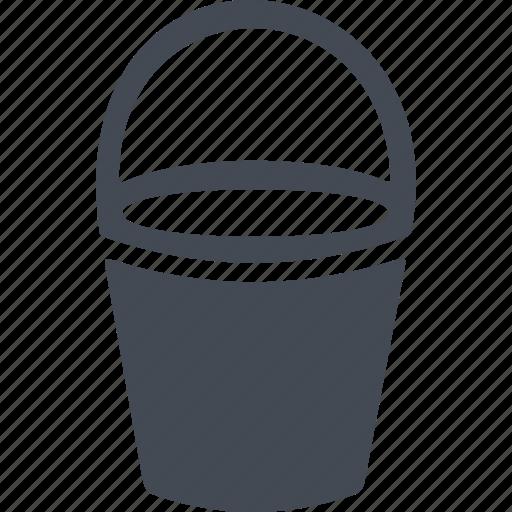 autumn, bucket, capacity, inventory, roominess icon