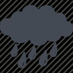 autumn, cloud, drops, natural phenomenon, rain icon