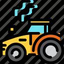 agriculture, autumn, farm, season, tractor