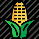 autumn, corn, food, season icon