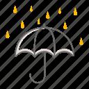 umbrella, autumn, season, weather, raining, drizzling
