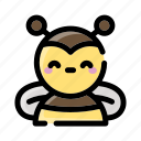 bee, insect, honey, natural, yellow, buzz, sting