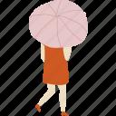girl, people, person, rain, umbrella, weather, woman