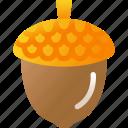 acorn, autumn, fall, nature, season icon