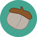 acorn, autumn, fall, nut icon