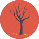 autumn, dead tree, fall, fallen, leaves, tree icon