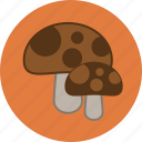autumn, fall, fungus, mushrooms icon