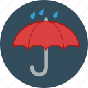 autumn, fall, rain, raining, rainy, umbrella icon