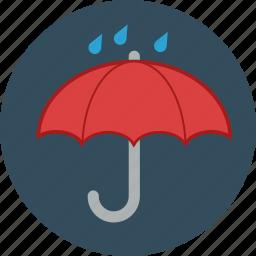 autumn, fall, rain, raining, rainy, umbrella icon