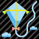 childhood, fly, hobbies, kite, leisure icon
