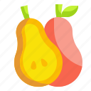 food, fruit, organic, pear, vegetable icon