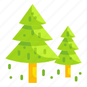 christmas, forest, park, pine, tree icon
