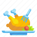 chicken, food, roast, turkey icon