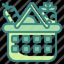 basket, food, shopping, supermarket icon