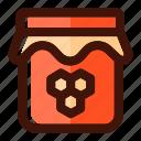 autumn, bee, honey, jam, jar, nutrition, sweet icon