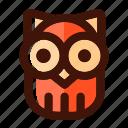 animal, autumn, bird, fall, owl, wild, wildlife icon