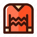 autumn, clothes, fall, hoodie, jacket, knitwear, sweater icon