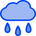 cloud, rain, water, weather, wet icon