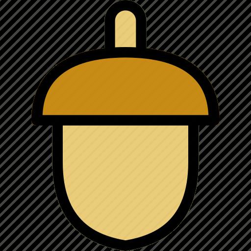 acorn, autumn, fall, hazelnut, nut icon