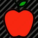 apple, autumn, food, fruit, healthy icon