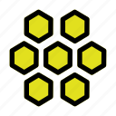 bee, food, honey, honeycomb, sweet icon